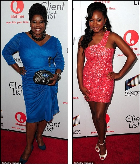 259b6c13d Party people: Actresses Loretta Devine and Naturi Naughton came out in full  support