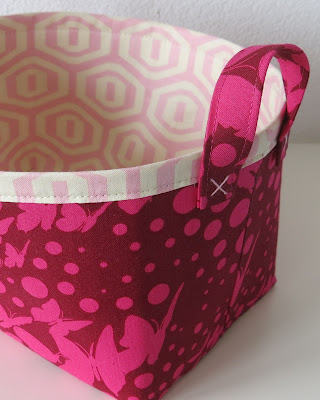 Fabric basket - Prints by Tula Pink and Amy Butler