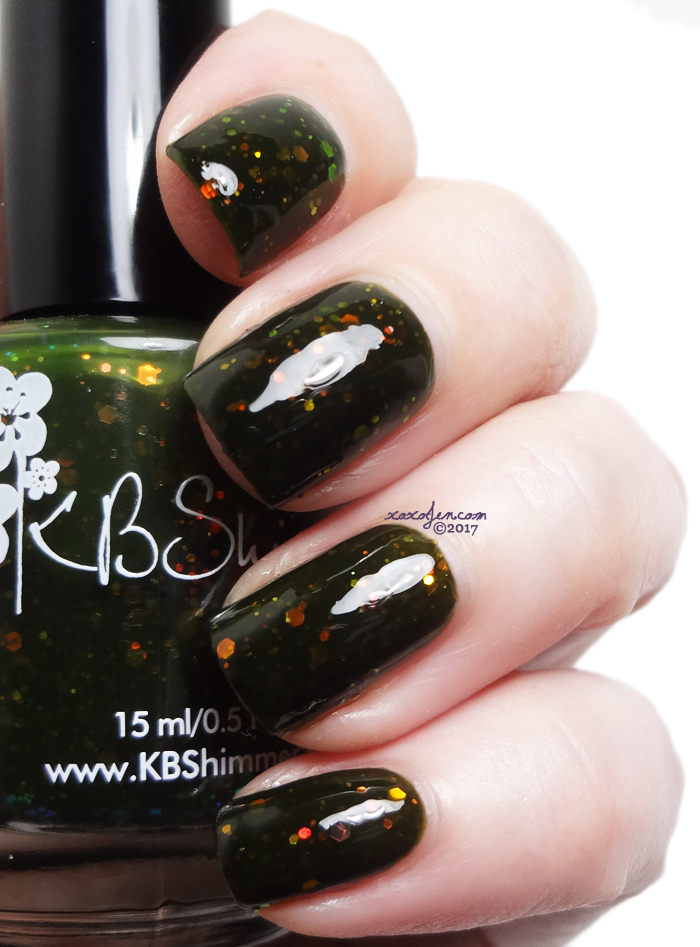 xoxoJen's swatch of KBShimmer #squadghouls