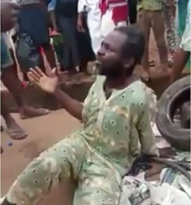 "Kidnapper Pretending To Be A ""Mad Man"" Nabbed (Photos)"