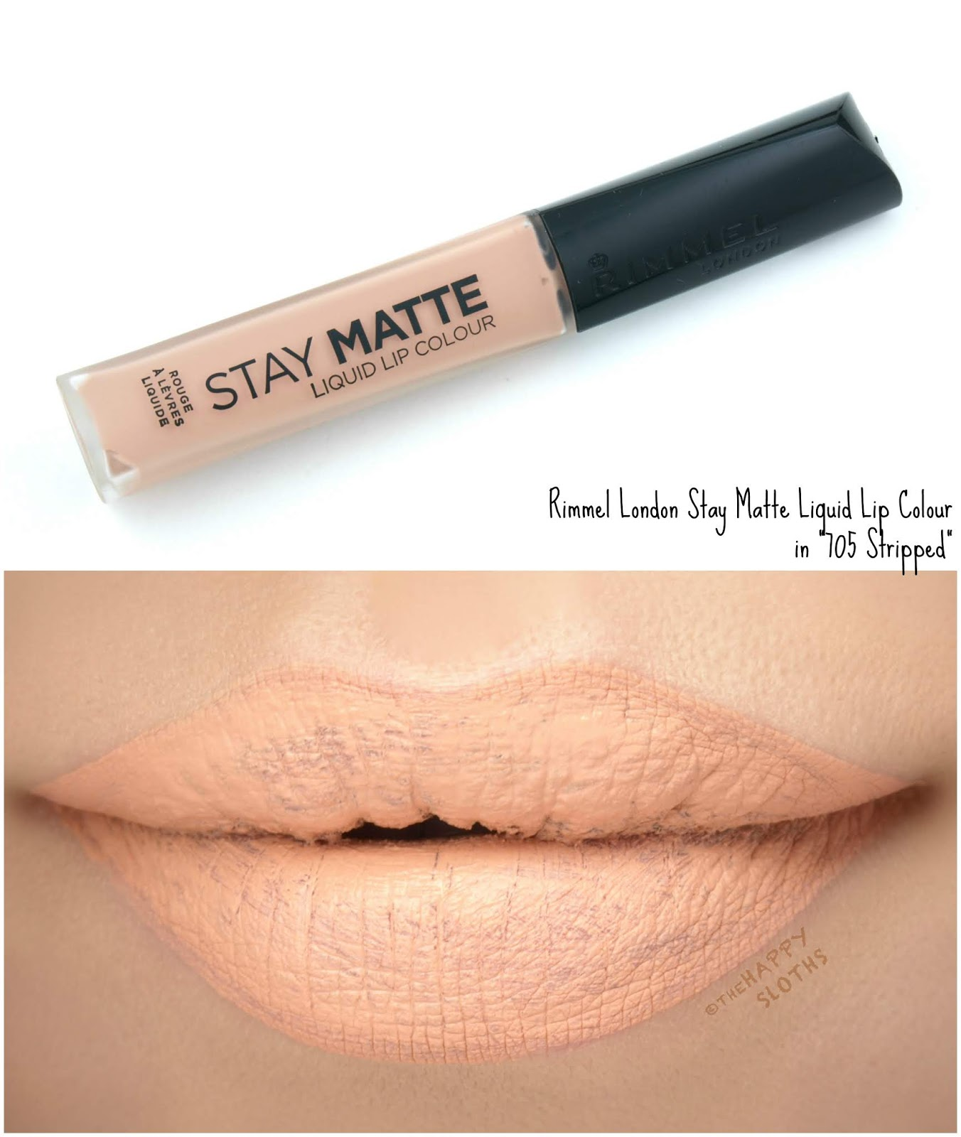 "Rimmel London | Stay Matte Liquid Lip Colour in ""705 Stripped"": Review and Swatches"