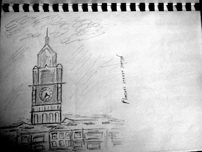 Flinders Station Sketch, Melbourne