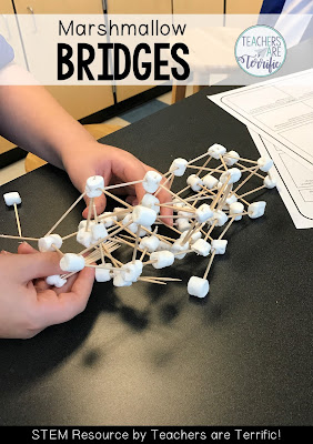 STEM Challenge: Even when the bridge collapsed kids kept working to complete this STEM challenge!