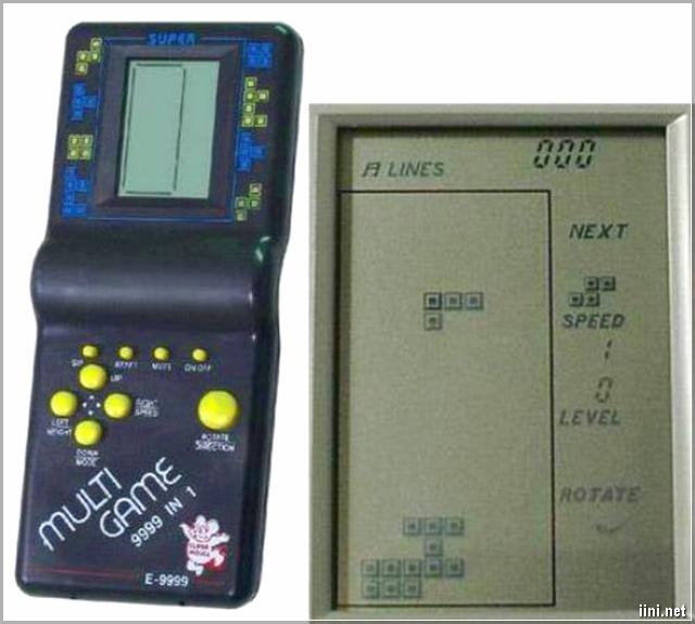 máy chơi game điện tử bấm tay xếp hình