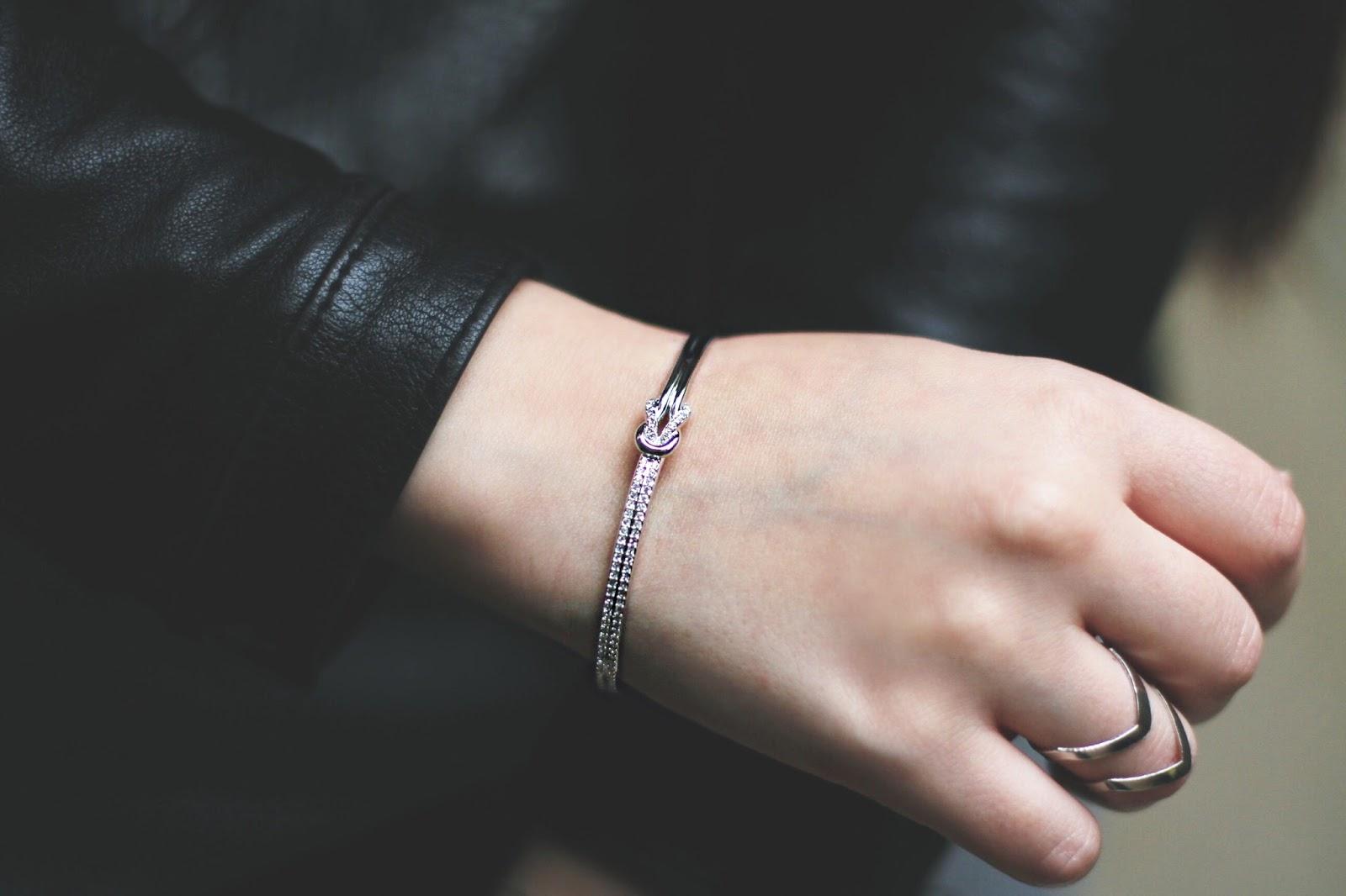 bracelet knot swarovski