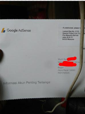Pengalaman pertama menerima pin google adsense