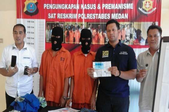 Polisi Berhasil Meringkus 2 Penjambret di Medan satu Ditembak