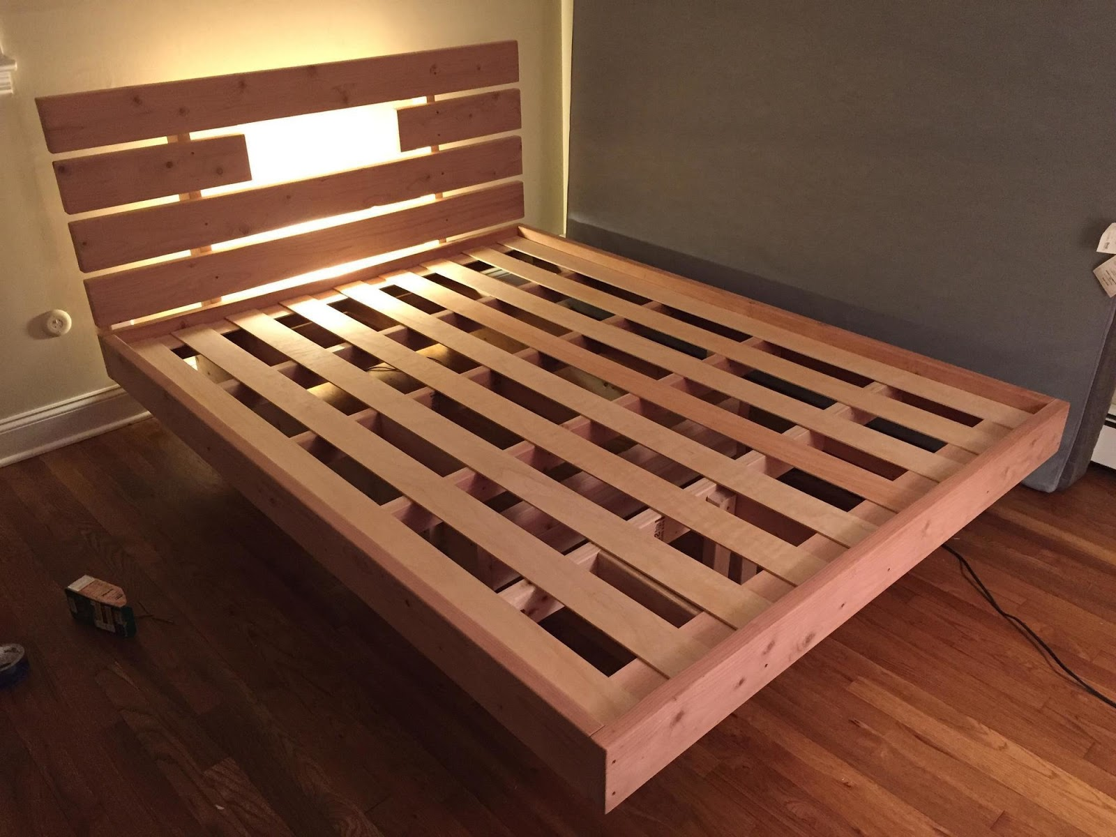 diy floating bed project at home