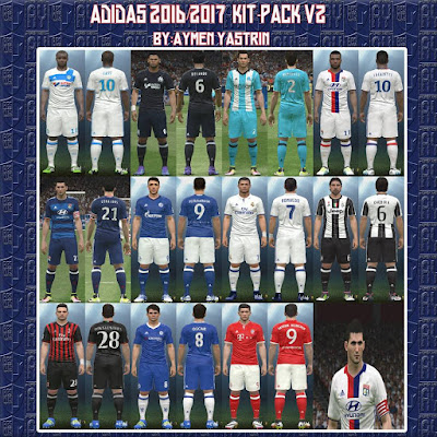 PES 2016 Adidas 2016-17 Kit-Pack V2 by YastRin