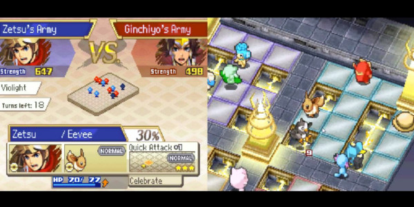 Pokemon Conquest Batalha