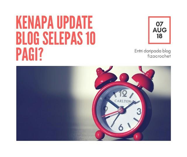Kenapa Update Blog Selepas 10 Pagi?
