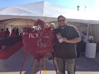 Jay Ducote gets ready to enjoy Rouge et Blanc in Lake Charles