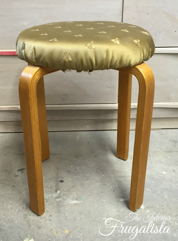 Bentwood Stool Before Makeover