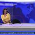 Cão aparece em direto e interrompe o noticiário
