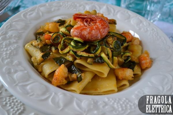 Paccheri con Gamberi e Zucchine