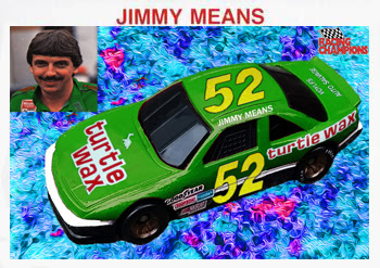 Jimmy Means #52 Turtle Wax Racing Champions 1/64 NASCAR diecast blog 1987 Winston Cup Folgers Eureka