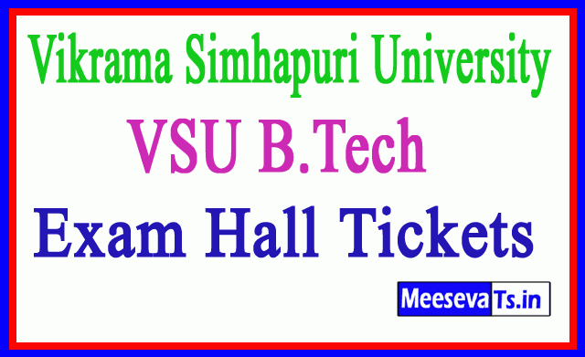 Vikrama Simhapuri University  VSU B.Tech Exam Hall Tickets