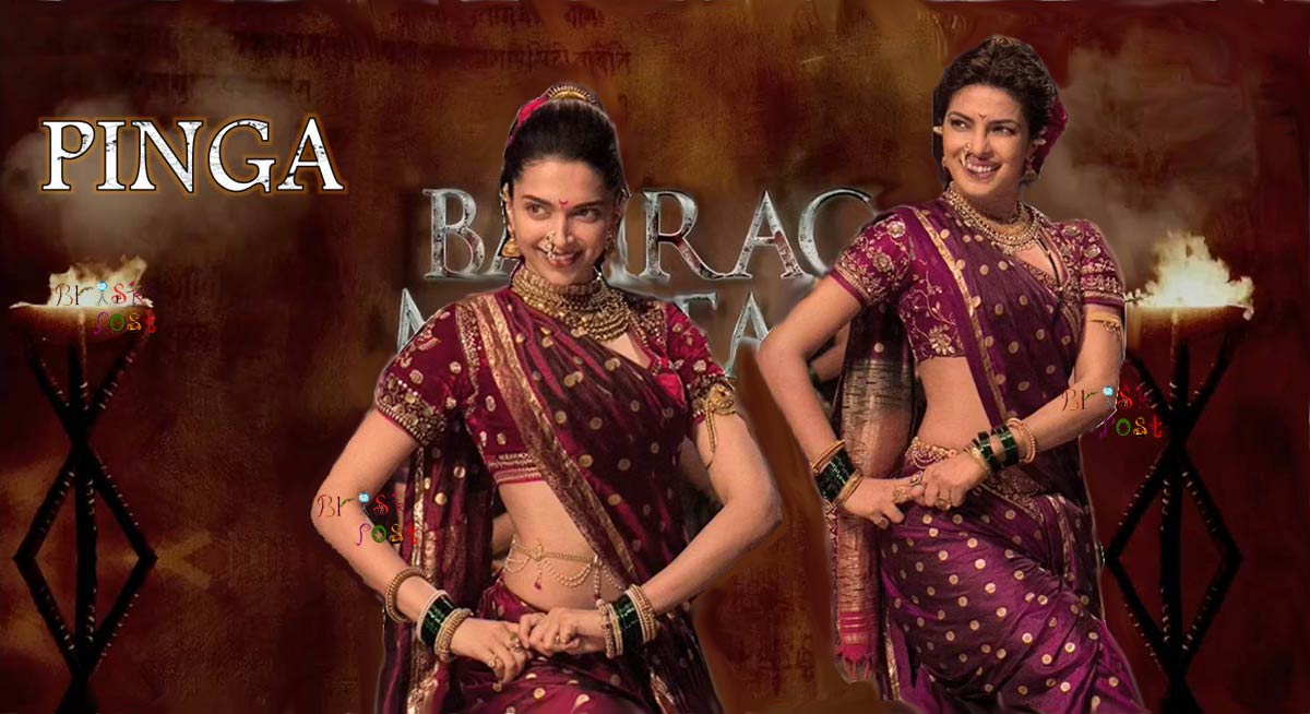 Pinga song dance of Priyanka Chopra and Deepika Padukone in traditional Maharashtrian costume 'nauvari sari' for Sanjay Leela Bhansali's Bajirao Mastani