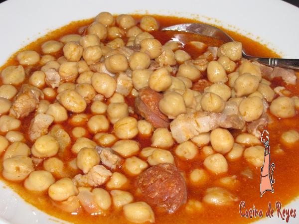 Garbanzos con costilla y panceta cocina de reyes - Garbanzos con costillas ...