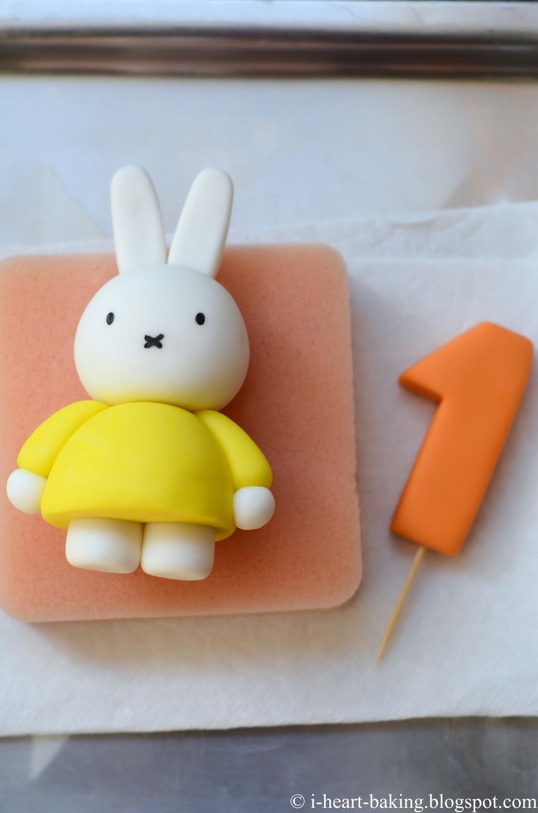 I Heart Baking Miffy First Birthday Cake With Handmade