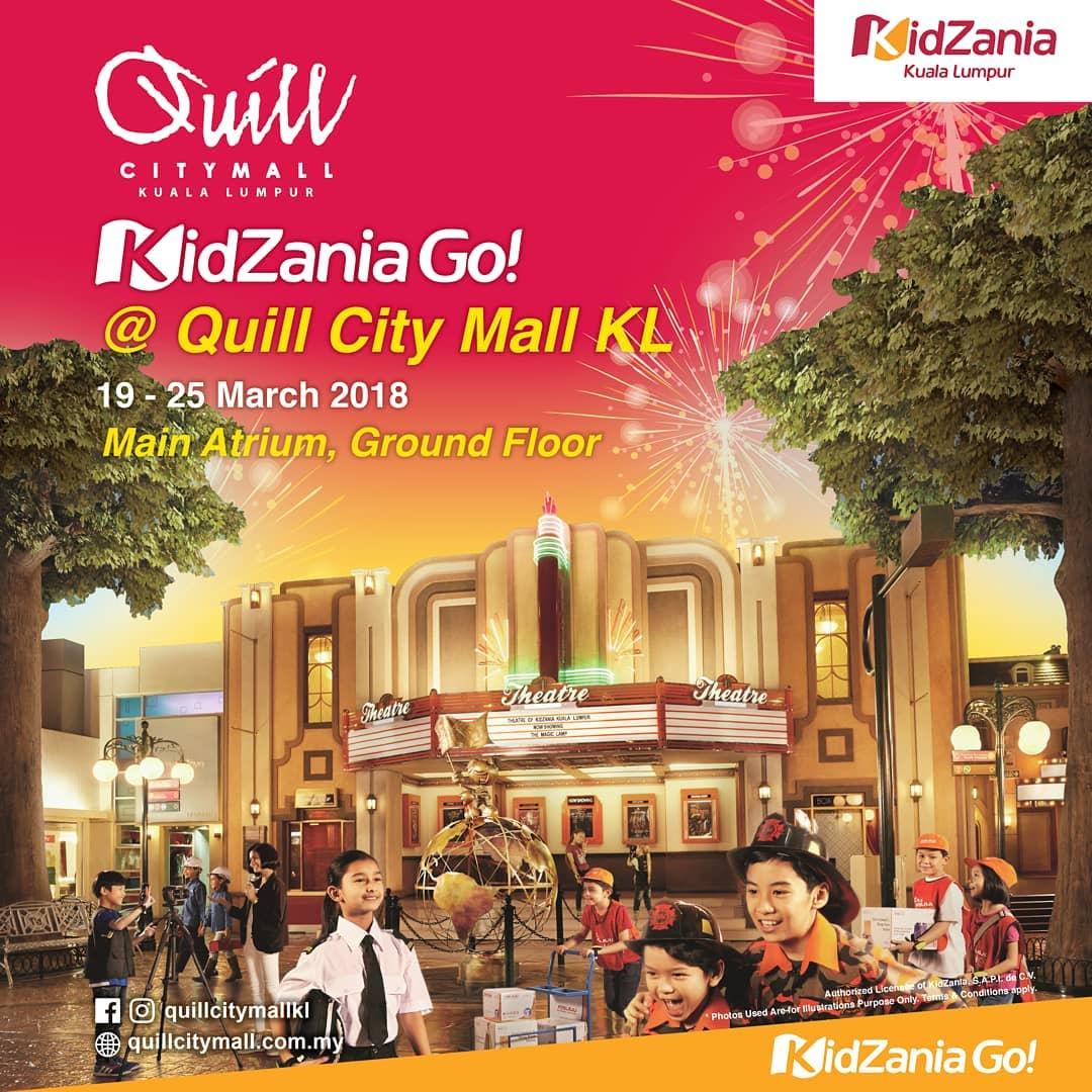 Tebus Tiket Percuma KidZania Go Di Quill City Mall Kuala Lumpur