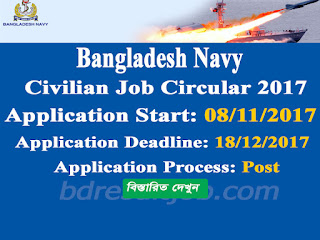 Bangladesh Navy Recruitment for Civilian Posts 2017