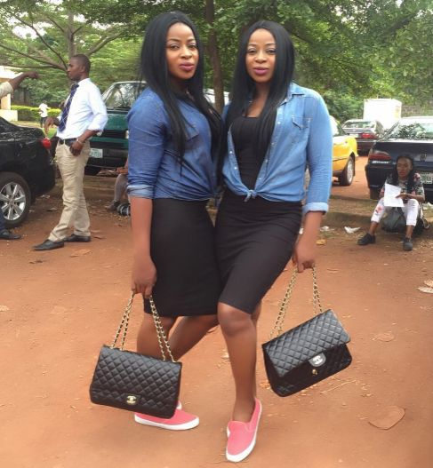 Aneke Twin Sisters Step Out Looking Casually Stylish