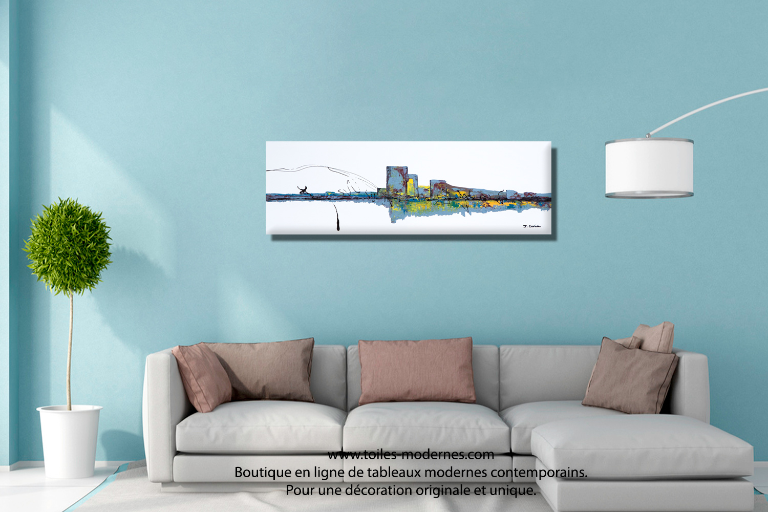 Jo lle caria artiste peintre toiles tableaux modernes contempor - Tableau decoratif salon ...
