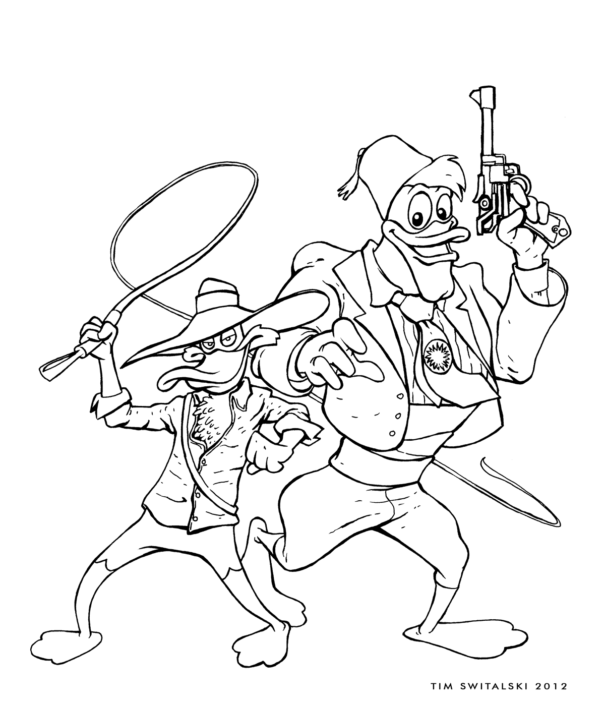 darkwing duck coloring pages laura williams