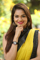 Cute Actress Ashwini in Yellow Saree Exclusive  015.JPG