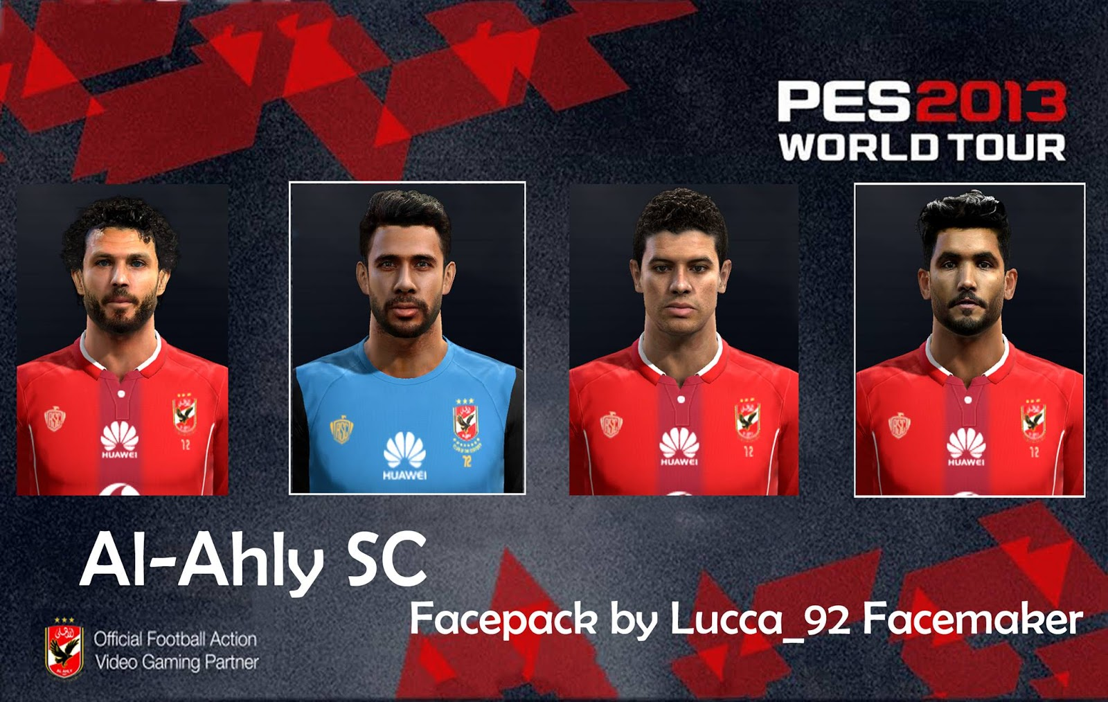 PES 2013 Al-Ahly SC Facepack by Lucca_92 Facemaker