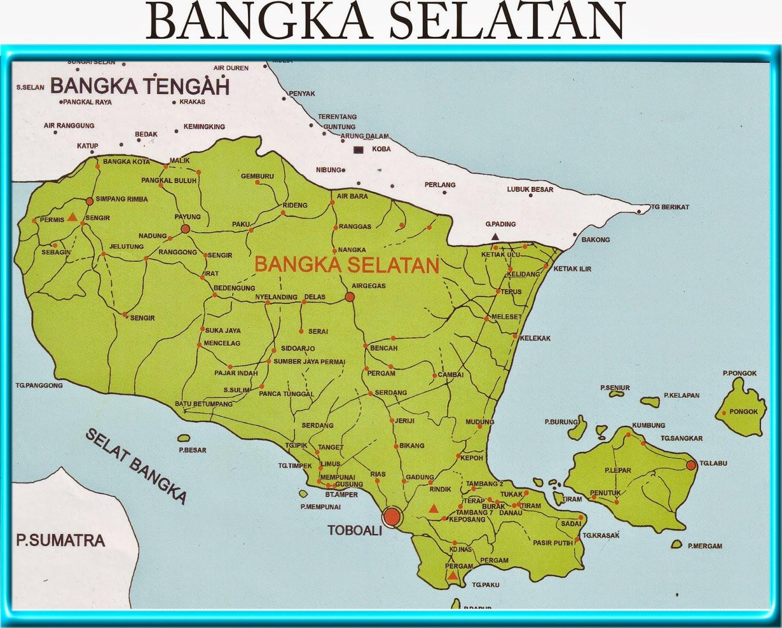 Peta Kota: Peta Kabupaten Bangka Selatan