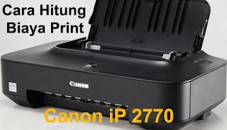contoh cara menghitung biaya print out per lembar di printer canon