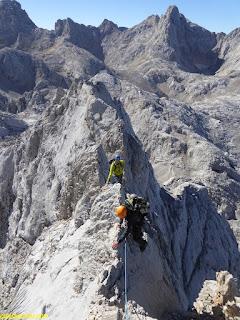 cresta torres areneras fernando calvo guia de alta montaña