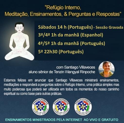 Práticas de Meditação Regulares com Santiago Villaveces