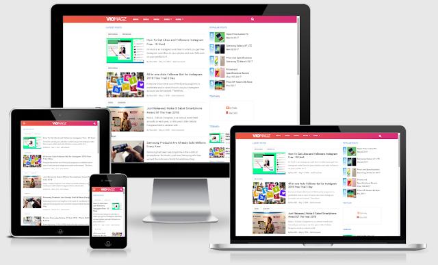 Download Template Blogger VioMagz V2.4 Terbaru 100% Asli Original