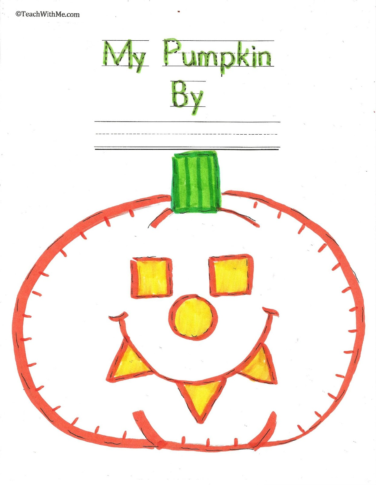 My Pumpkin Shape Booklet Easy Reader