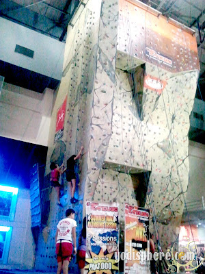 Climbing wall at Camp Sandugo in Market Market showing different climbing wall grades