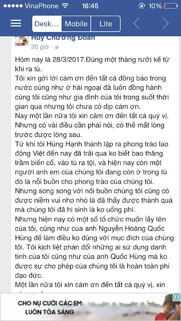 Hội Anh em dân chủ (HAEDC) miền Nam trở thành chi nhánh của tổ chức Lao động Việt?