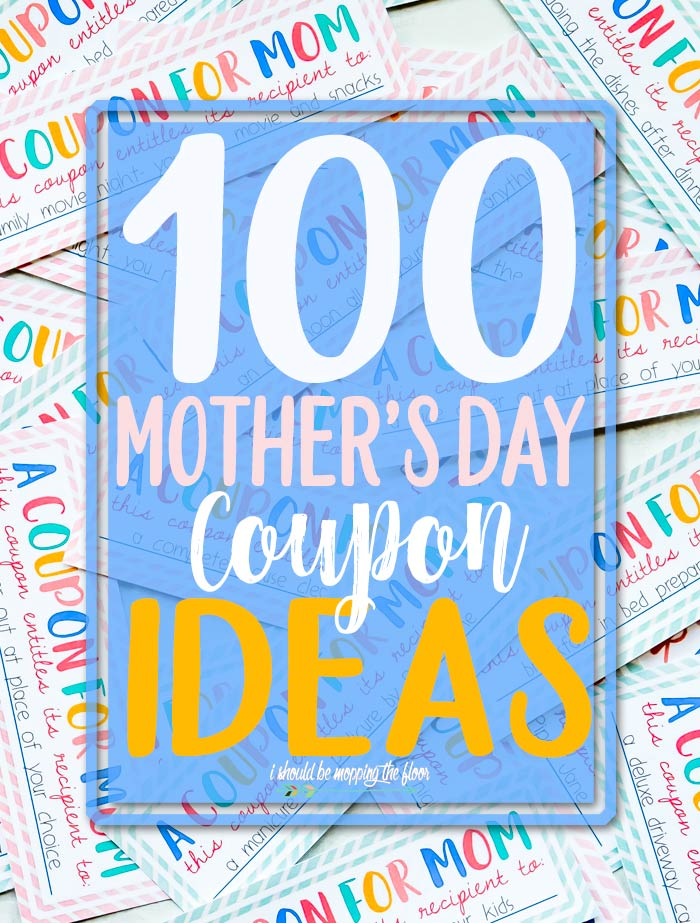 Mother's Day Coupon Ideas