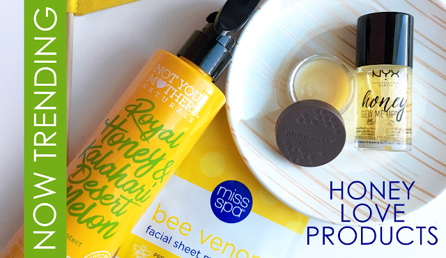 bee venom mask, honey makeup primer, honey shampoo and conditioner, honey beauty products