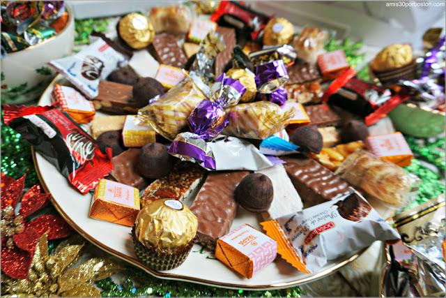 Bandeja Turrones y Chocolates Españoles
