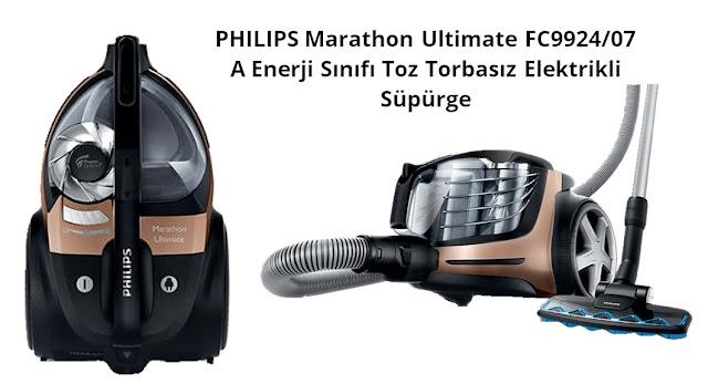 PHILIPS Marathon Ultimate FC9924/07 A Enerji Sınıfı Toz Torbasız Elektrikli Süpürge