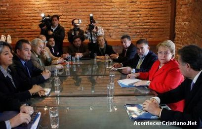 Evangélicos con Michelle Bachelet