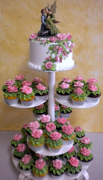 Specialty Fancy Cupcakes & Stands