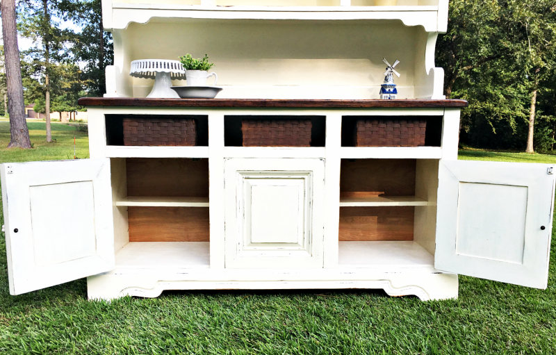 White Painted Christmas Hutch Curb Alert Blog
