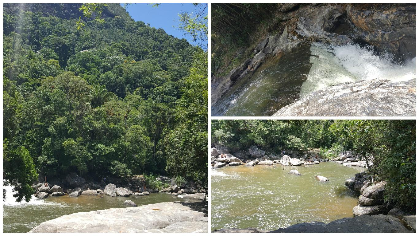 Piscina natural no Encontro dos Rios, Lumiar.