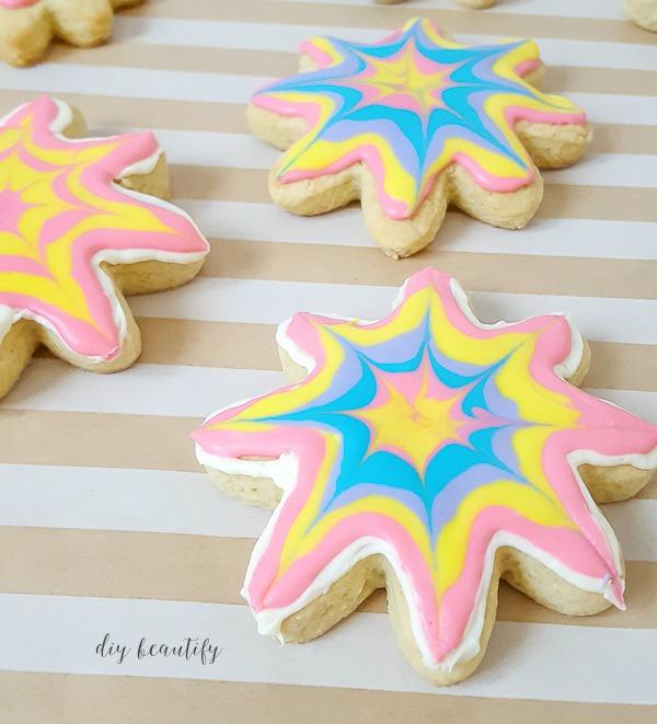 gorgeous tie dye sugar cookies