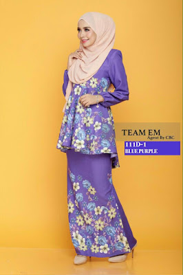 Daisy Peplum Blue Purple Cantik