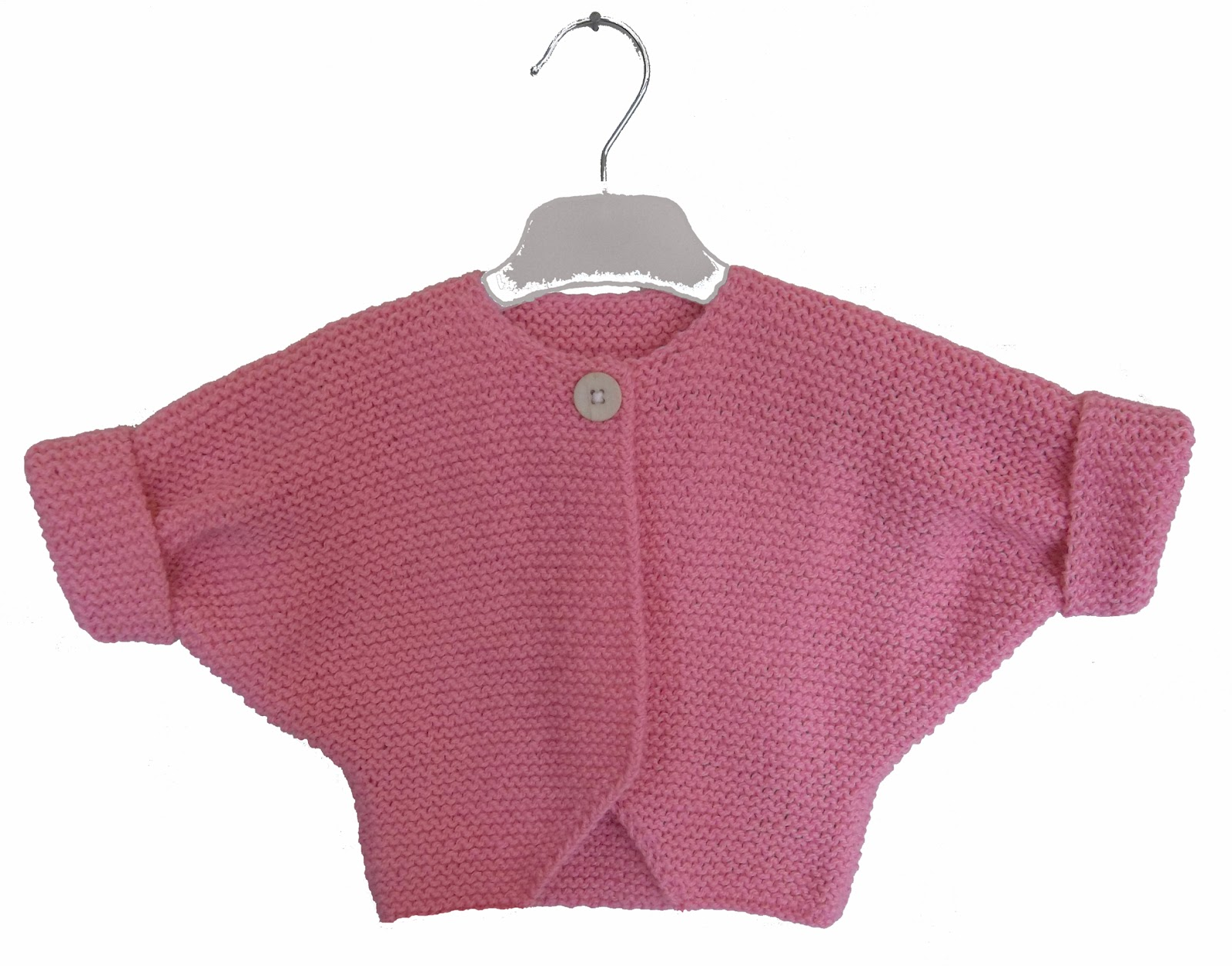 Knitting Pattern Cardigan Girl : Baby Girl Garter Stitch Cardigan. Hand Knitting Pattern